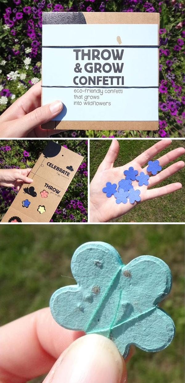 clever eco-friendly ideas throw and grow confetti