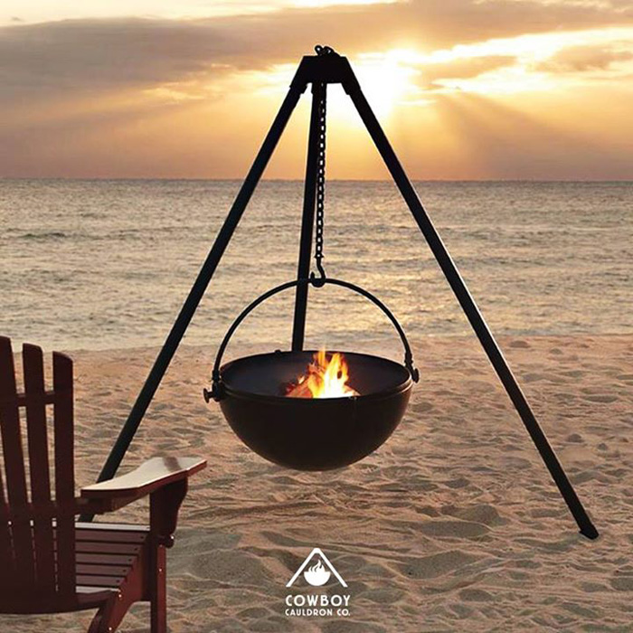 cowboy cauldron hanging fire pit