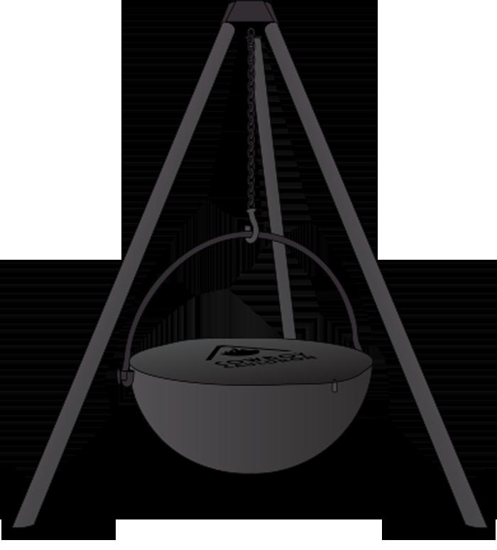 cowboy cauldron tripod hanging fire pit