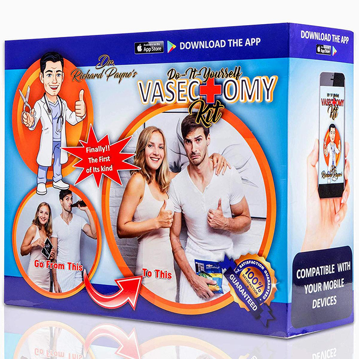 DIY Vasectomy Kit Prank Gift Side Detail Mobile App