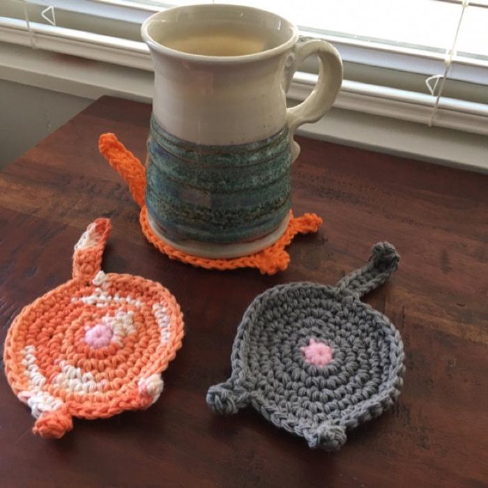 etsy crochet cat butt coasters customer photo