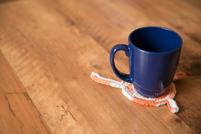 etsy crochet cat butt coasters orange cream