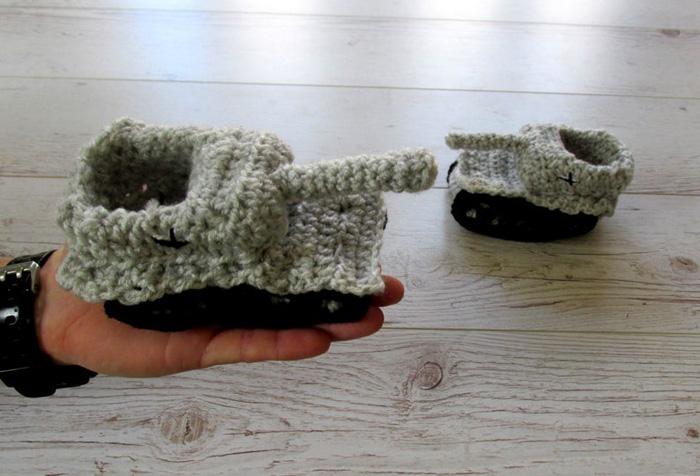 etsy crochet tank slippers baby