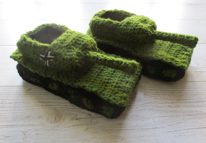 etsy crochet tank slippers green