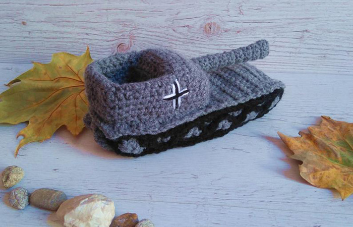 etsy crochet tank slippers knitted grey black