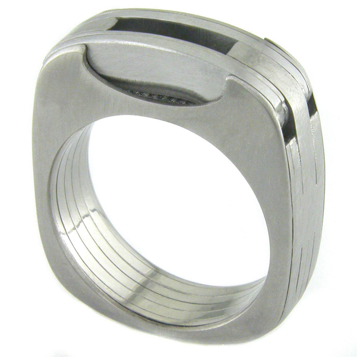 etsy man ring titanium utility ring