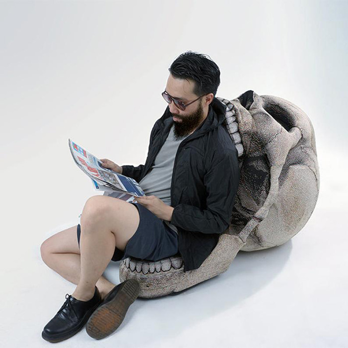 etsy skull bean bag chair comfy seat