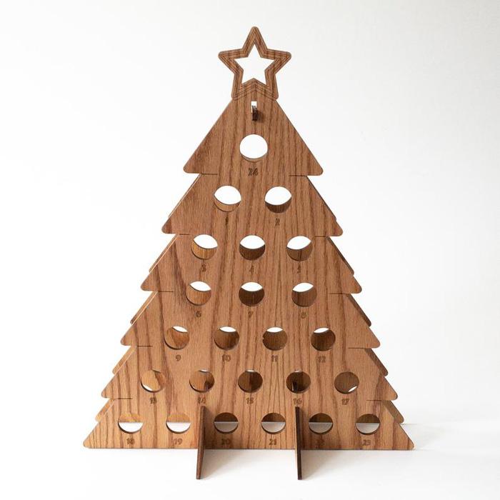 etsy wine bottle advent calendar christmas tree