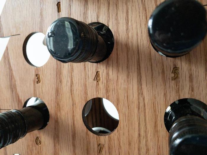 etsy wine bottle advent calendar liqour rack
