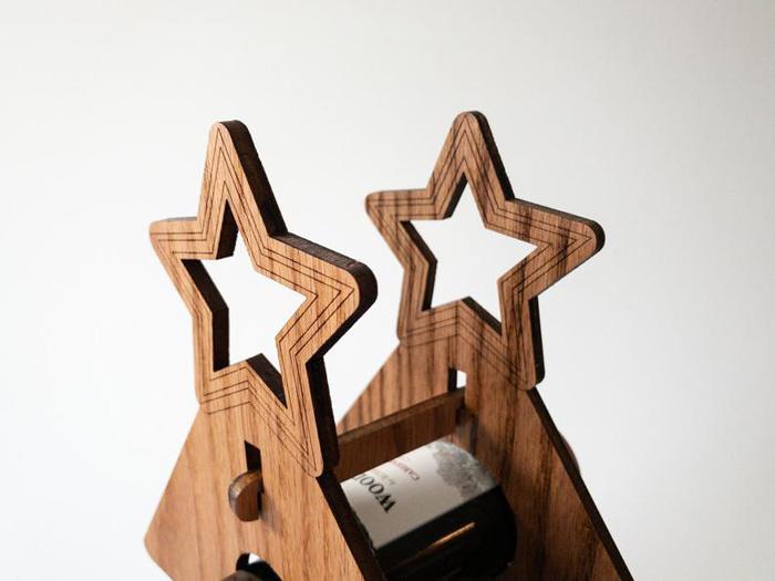 etsy wine bottle advent calendar stars