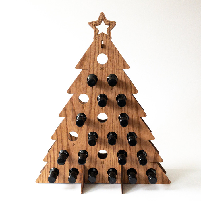 etsy wine bottle advent calendar