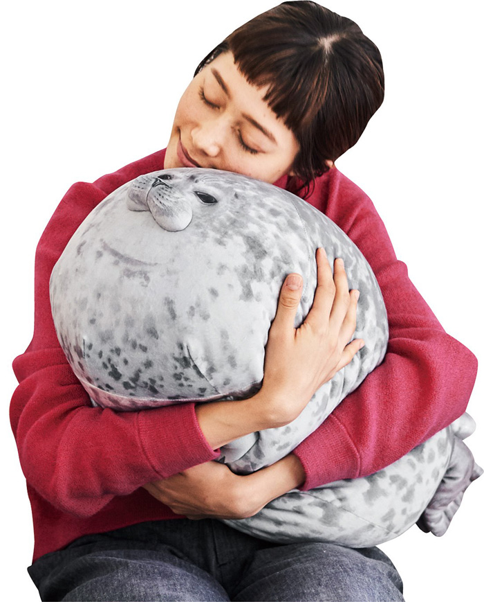 felissimo chubby yuki blob seal pillow cuddly cushion