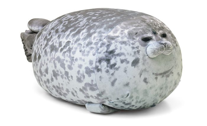 felissimo chubby yuki blob seal pillow cushion