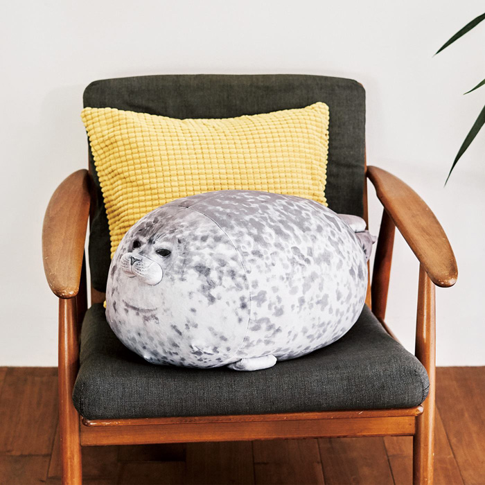 felissimo chubby yuki blob seal pillow huggable cushion