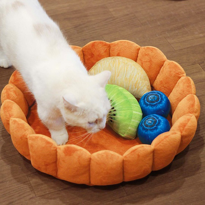 felissimo fruit tart cat bed crust cushions
