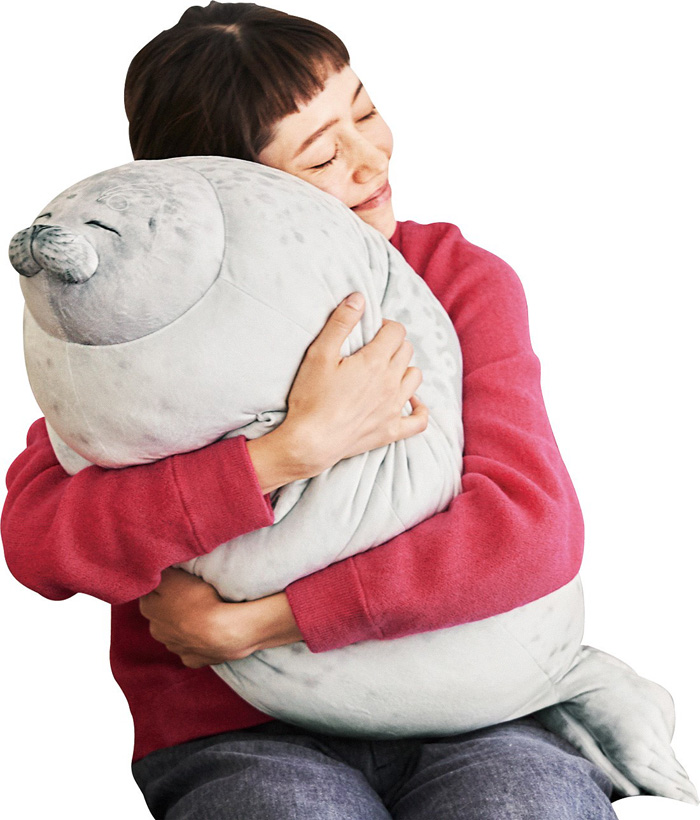 felissimo mellow arare blob seal pillow cuddly cushion