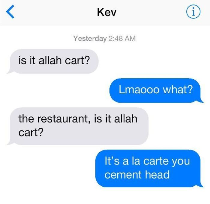 funny mispronouncing words allah cart