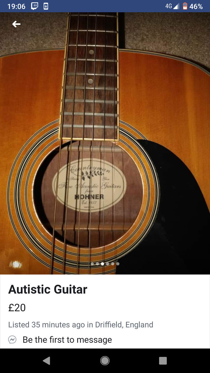 funny mispronouncing words autistic guitar
