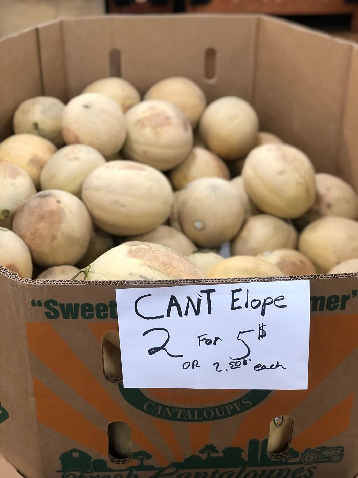 funny mispronouncing words cant elope cantaloupe
