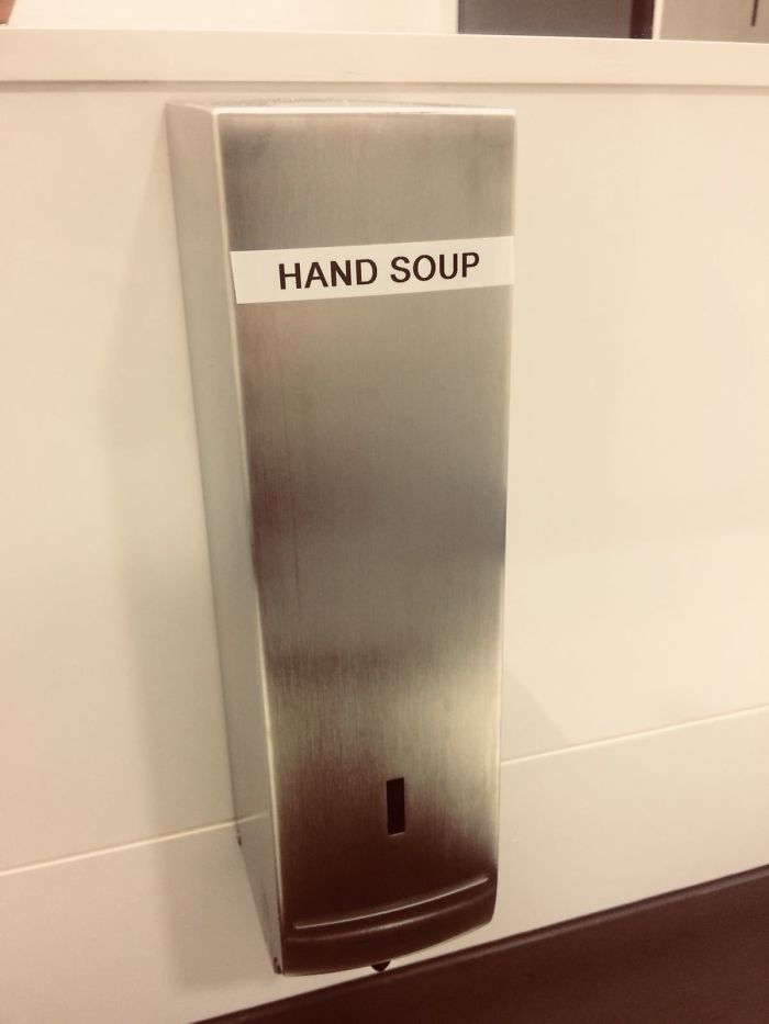 funny mispronouncing words hand soup