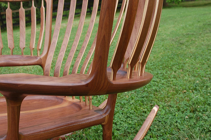 hal taylor three-seater rocking chair back braces woods