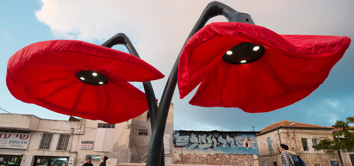 hq architects warde giant urban flowers inflated