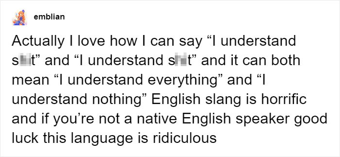 i understand shit confusing english language