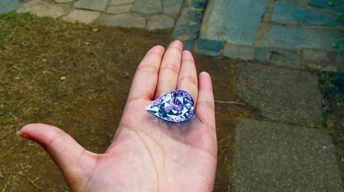 iantha naicker 3d hand paintings purple gem