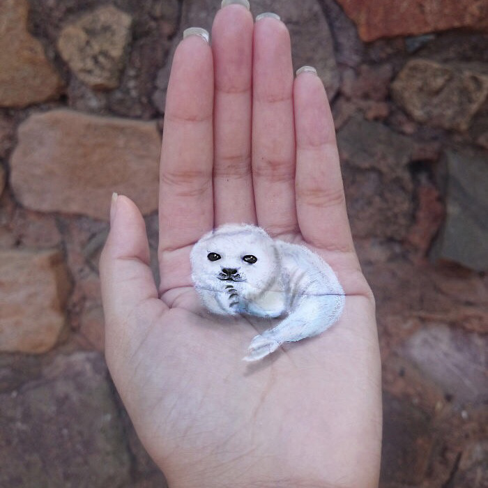 iantha naicker 3d hand paintings white seal
