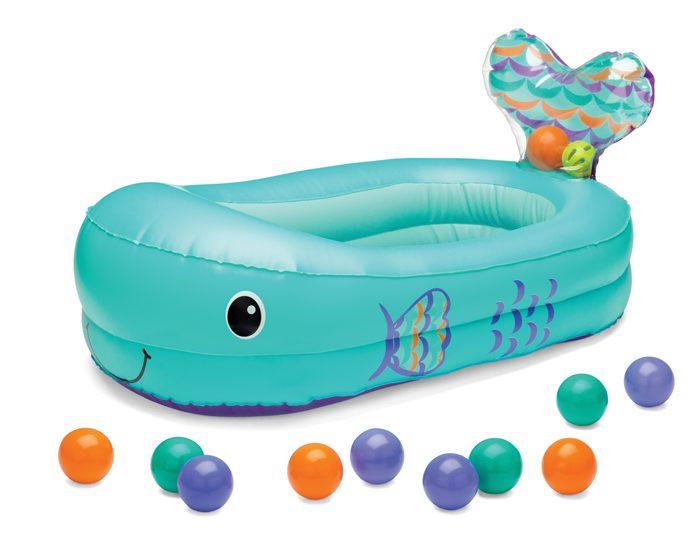 infantino inflatable whale baby bathtub teal