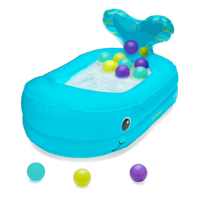infantino inflatable whale baby bathtub with floating balls