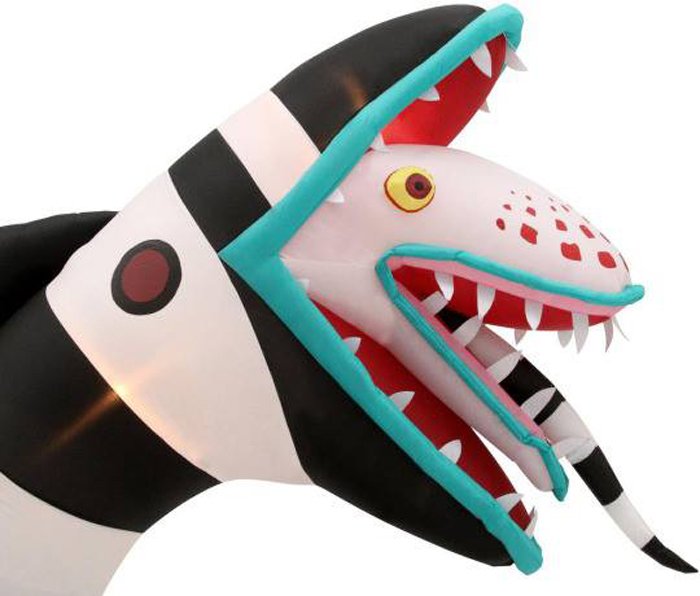 inflatable beetlejuice sandworm head