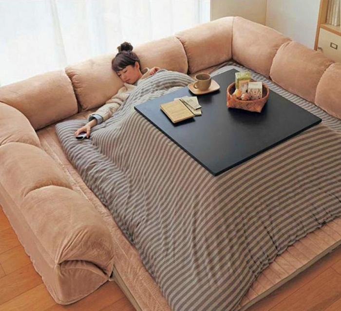 japanese heated kotatsu table