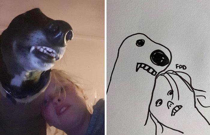 jay cartner flat dog doodles custom commision