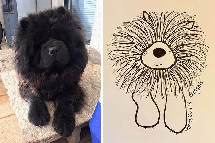 jay cartner flat dog doodles genghis