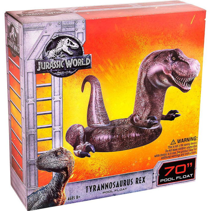 jurassic world t-rex inflatable pool float
