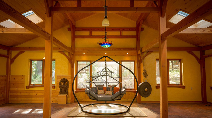 kodama zome indoor hanging caged lounger