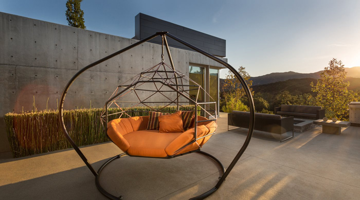 kodama zome outdoor hanging caged lounger