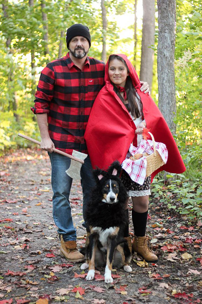 Little Red Riding Hood Wolf Dog Costume