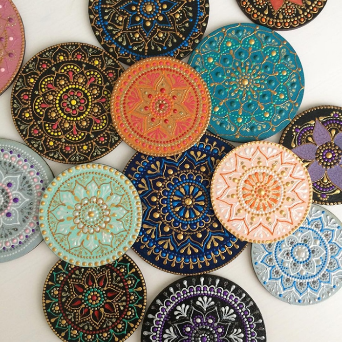 lots of samples mandala art ceramic plates anastasia safonov