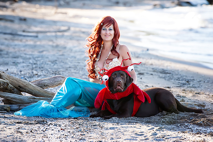 Ariel and Sebastian Dog Costume