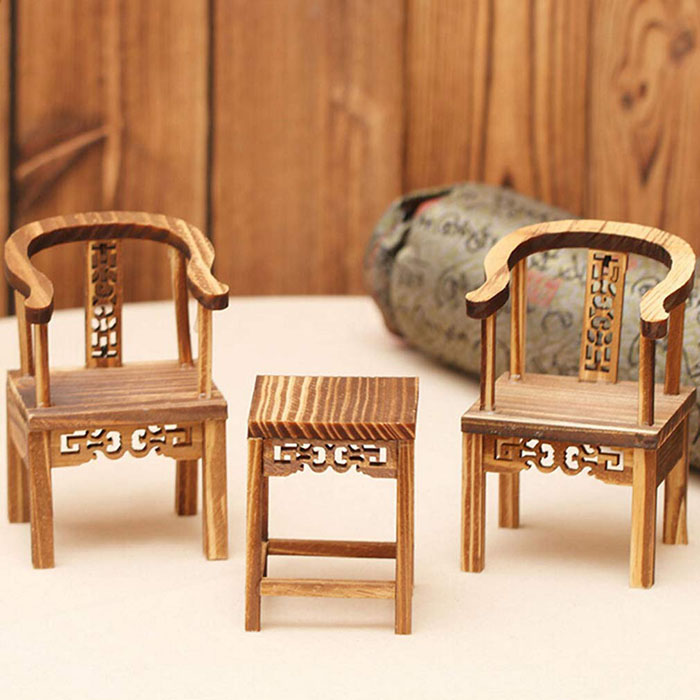 mini wooden chairs
