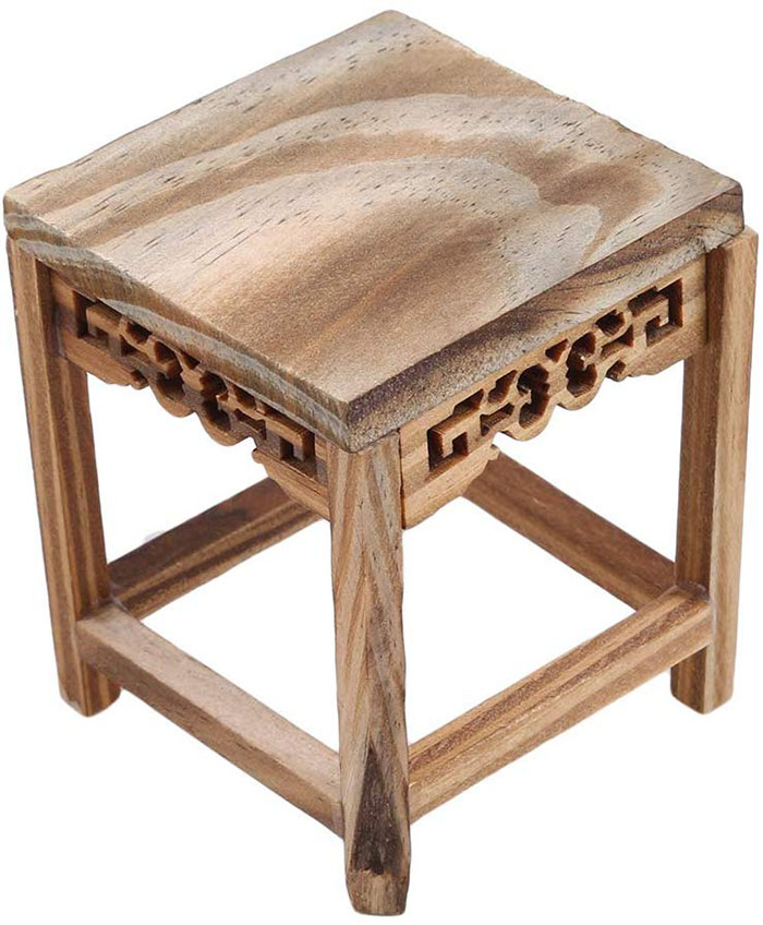 miniature wooden table