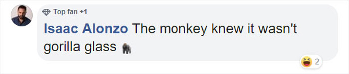 monkey breaks the glass enclosure comment isaac