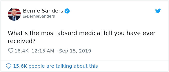 most absurd medical bill bernie sanders