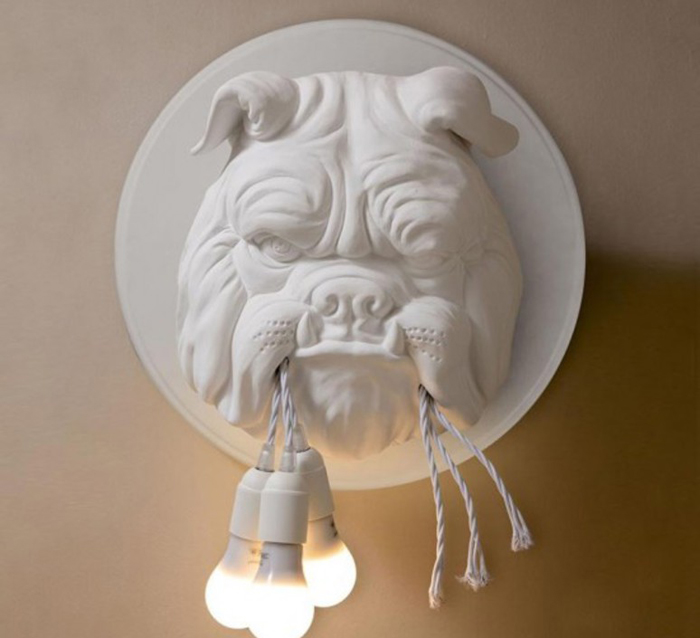 nedgis amsterdam bulldog wall sconce white ceramic