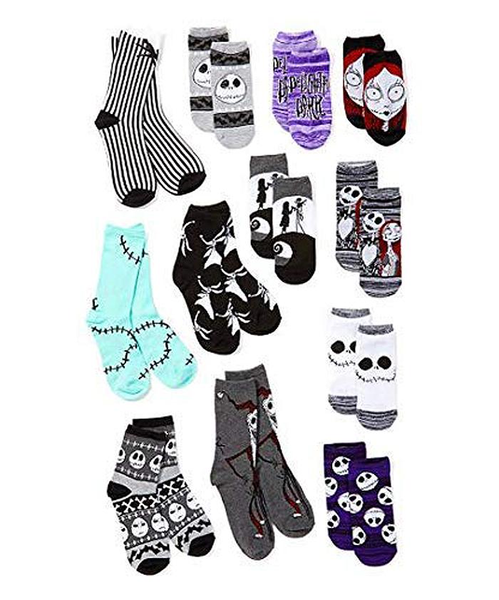 nightmare before christmas sock advent calendar assorted socks