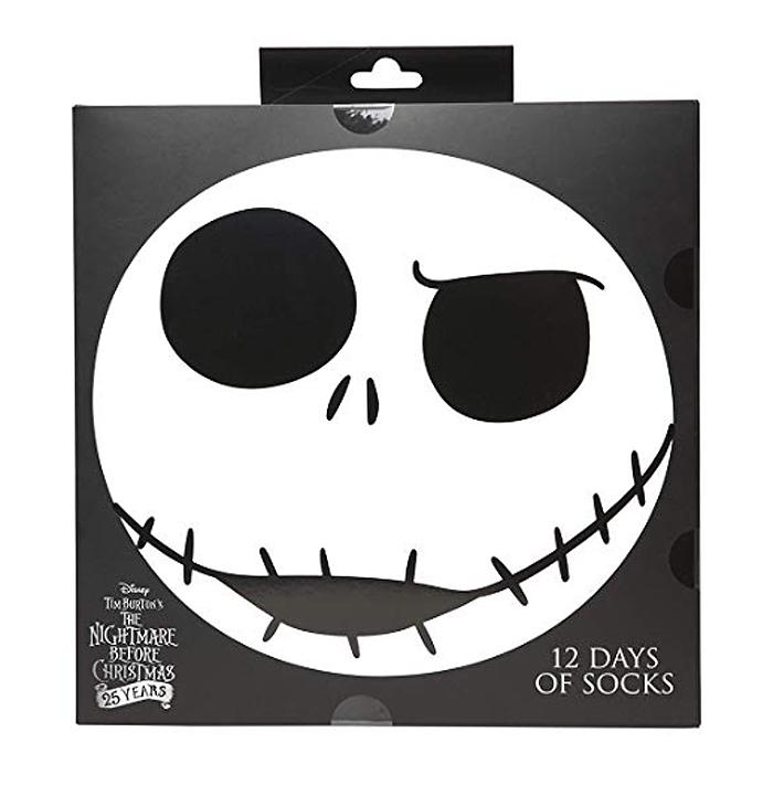 nightmare before christmas sock advent calendar box cover