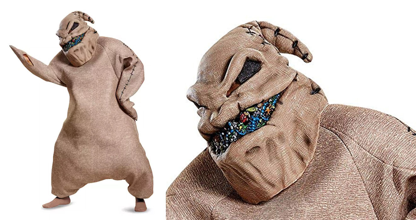 This Oogie Boogie Halloween Costume From Nightmare Before Christmas Is Next Level Creepy Oogie boogie is tim's favorite character from the nightmare before christmas, and he was in character. this oogie boogie halloween costume