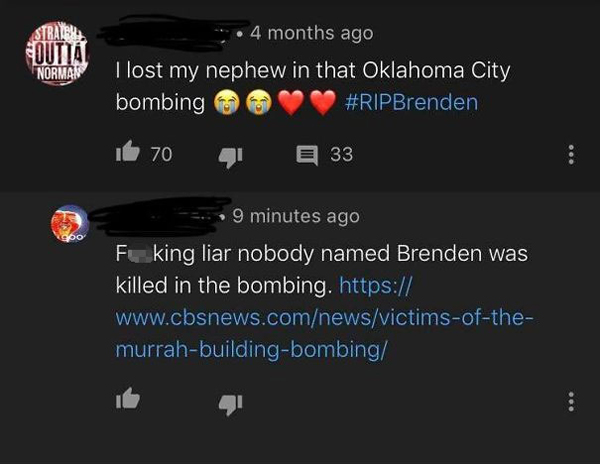 people being called out nephew brenden